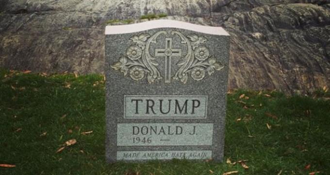 Photo of ABD Başkan adayı Trump'ı canlı canlı gömdüler