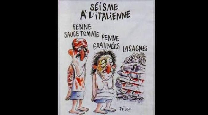 Photo of Fransız Charlie Hebdo dergisinden skandal bir karikatür daha… Depremde ölen insanlarla dalga geçti