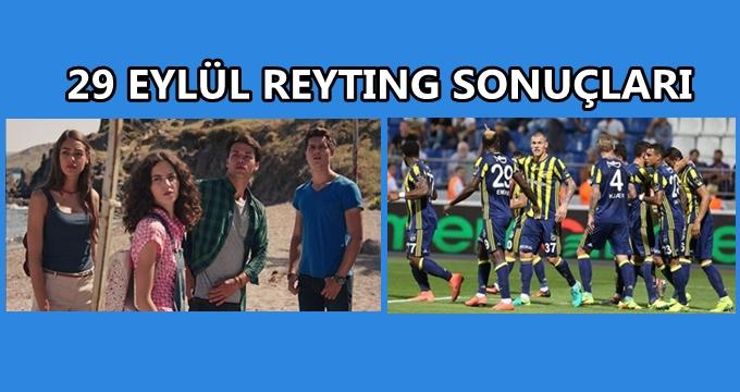 Photo of 29 Eylül 2016 Perşembe reyting sonuçları, Bodrum Masalı'nın bileğini büken Fenerbahçe mi?