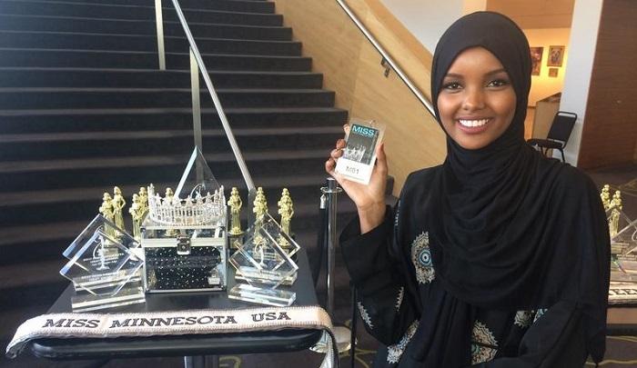 Photo of Güzellik yarışması için podyuma çıkan ilk tesettürlü kadın: Halima Aden