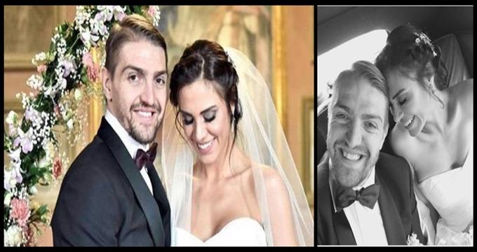 Photo of Ve mutlu son… Caner Erkin ile Şükran Ovalı evlendi!
