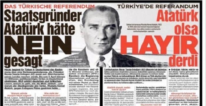 """Photo of Alman Bild gazetesinden gülünç manşet:""""Atatürk olsaydı…"""""""