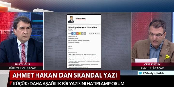 """Photo of Cem Küçük, Ahmet Hakan'ın hangi yazısına""""daha aşağılık bir yazısını görmedim""""dedi?"""