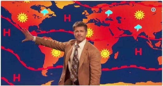 Photo of Brad Pitt hava durumu sunarsa…