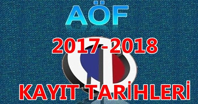 Photo of 2017-2018 AÖF kayıt dönemi başladı (AÖF tüm kayıt şartları ve tarihleri )