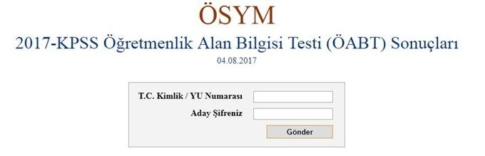 Photo of KPSS ÖABT sonuçları açıklandı (2017)