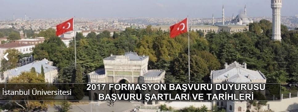 Photo of İstanbul Üniversitesi 2017 formasyon duyurusu yapıldı başvurular ne zaman?