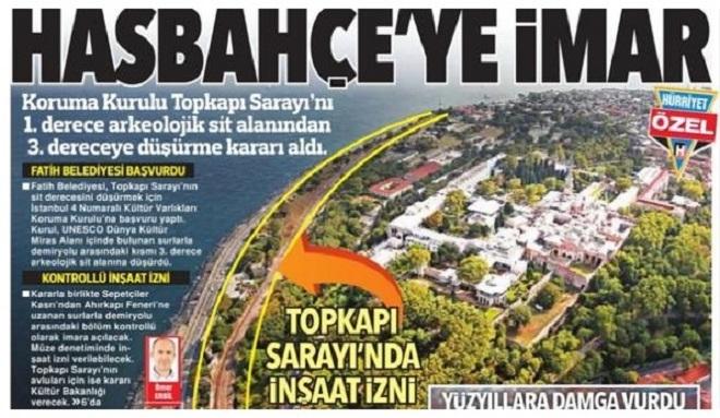 Photo of Kültür Bakanlığı'ndan Hürriyet'in Hasbahçe haberine yalanlama geldi