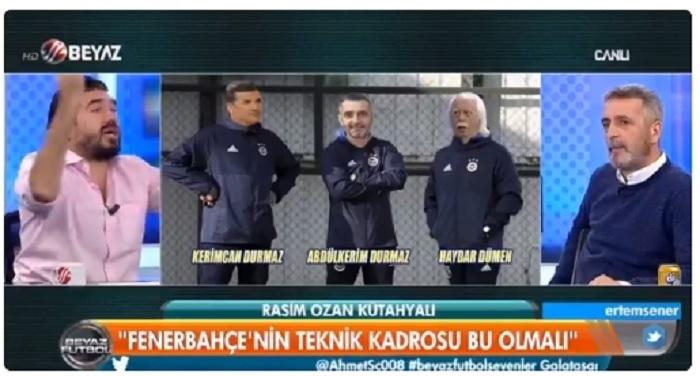 Photo of Beyaz Futbol'da A.Kerim Durmaz, Rasim Ozan Kütahyalı'ya stüdyoyu dar etti