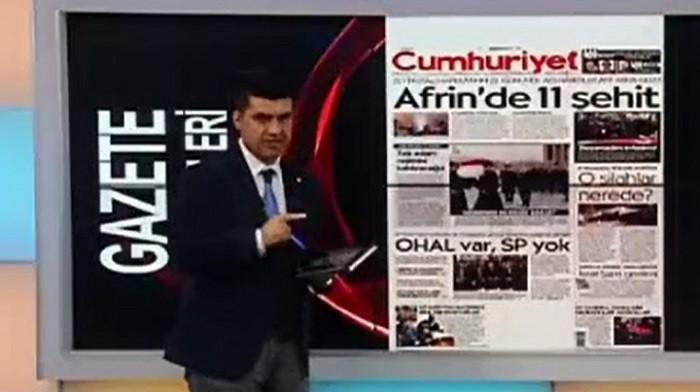 Photo of Cumhuriyet'ten Akit TV sunucusu için suç duyurusu