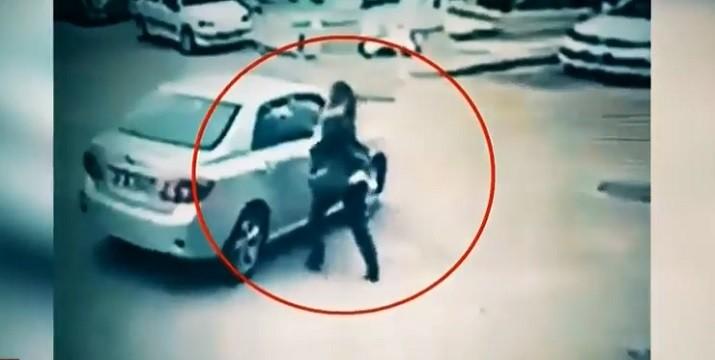 Photo of Ankara'da arabayla genç kadını metrelerce sürükleyen maganda yakalandı