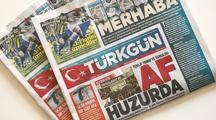 Photo of Yayın hayatına başlayan Türkgün gazetesinin künyesinde kimler var?