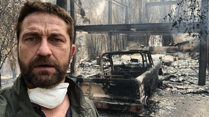 Photo of ABD Kaliforniya'daki yangında evini kaybedenler arasında Gerard Butler ve Lady Gaga da var