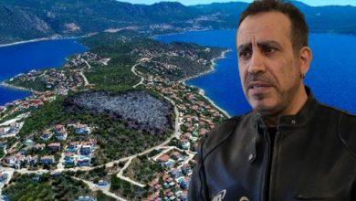 Photo of Haluk Levent, Kaş'ta yanan 25 dönümlük alan için harekete geçti